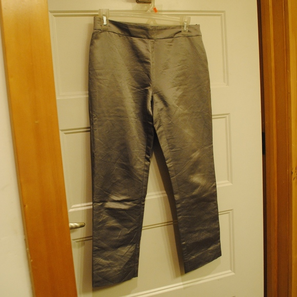 INC International Concepts Pants - 111. cropped silver silk pants